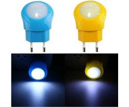 Bedlampje 0.7W LED in 2 Kleuren