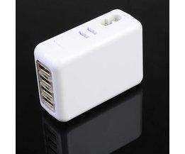 4-poorts USB Stekker Oplader