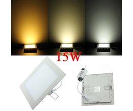 15W LED Plafond Paneel In Twee Kleuren