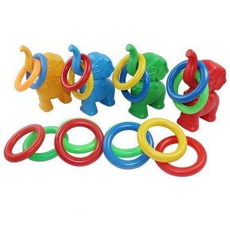 Kleuterspeelgoed Ringen Gooien Olifant