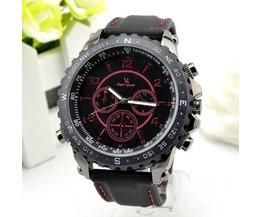 Horloge met Zwarte Siliconen Band