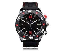 Horloge met Blauwe, Rode of Zwarte Wijzerplaat