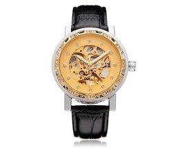 FORSINING Flywheel Horloge PU Leer
