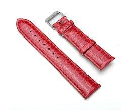 Rood Horlogebandje Van PU-Leer