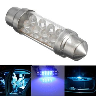 Blauwe Interieurverlichting Auto