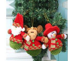 Kerstdecoratie Poppen Kerstman Rendier Sneeuwpop