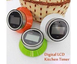 Magnetische Kookwekker met LCD-Scherm