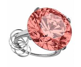 Ring Met Een Rhinestone In Meerdere Kleuren