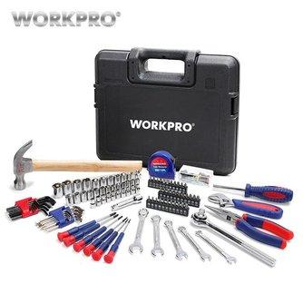 WORKPRO 165 st Thuis Gereedschap Huishoudelijke Tool Set Wrench Schroevendraaier Tang Socket Set