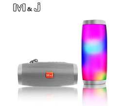 Draadloze Bluetooth Speaker LED Draagbare Boom Box Outdoor Bass Kolom Subwoofer Klankkast met Mic Ondersteuning TF FM USB Subwoffer
