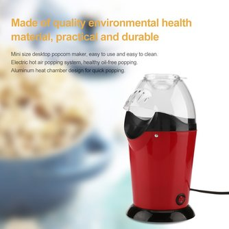 Draagbare Elektrische Popcorn Maker Thuis Ronde/VierkanteAir Popcorn Making Machine Keuken Desktop Mini DIY Corn Maker