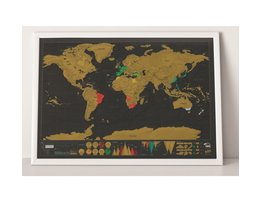 Wereldkaart Krasbaar