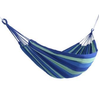 Draagbare Tuin Canvas Hangmat Canvas Bed Camping Opknoping Veranda Achtertuin Indoor Outdoor Swing Blauw Hangmat