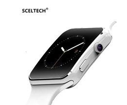 SCELTECH Bluetooth Smart Horloge X6 Sport Passometer Smartwatch met Camera Ondersteuning Sim-kaart Whatsapp Facebook voor Android Telefoon