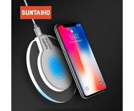 Qi Draadloze Oplader Suntaiho telefoon oplader draadloze Snelle Opladen Dock Cradle Charger voor iphone XS MAX XR samsung xiaomi huawei