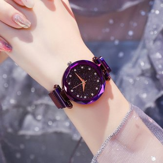 Luxe Vrouwen Horloges Dames Magnetische Sterrenhemel KlokDiamanten Vrouwelijke Quartz Horloges relogio feminino zegarek damski