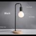 Nordic retro tafellamp slaapkamer bedlampje kantoor verlichting persoonlijkheid creatieve beknopte oogbescherming lamp hout decoratieve lamp