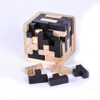 3D houten intelligentie puzzel