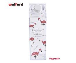 Flamingo Waterfles Melkpak Vorm