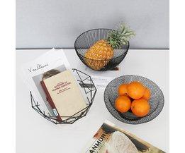Metalen fruitschaal in 5 Vormen