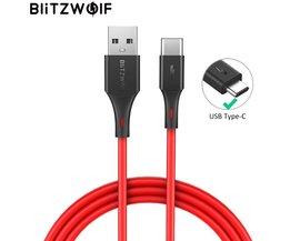 BlitzWolf 3A USB Type-C Snellader Datakabel voor Telefoon