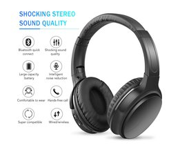 Noise Cancelling Headphones Wireless Bluetooth Over the Ear Headphones with Mic Active Noise Cancellation HiFi Stereo Headset