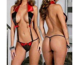 Sexy Lingerie Met Strikjes Zwart