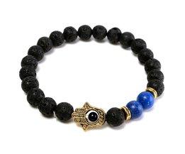 Mooie Armband van Zwart Lavasteen