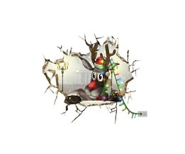 PAG Sticker Kerststicker 3D Rendier
