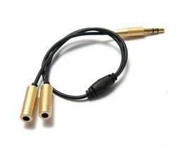 3.5mm Mannelijk naar 2 Vrouwelijke Audio Splitter