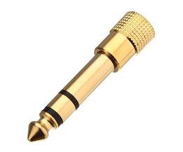 Verloop Jack van 6.3 mm Vrouwelijk naar 3.5 mm Mannelijk