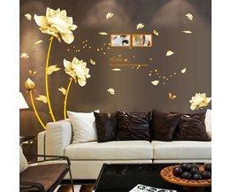 Gouden Lotus Wandsticker