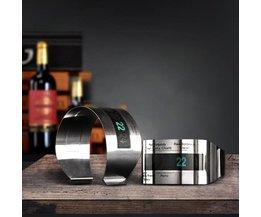 Elegante Wijnthermometer met LCD-Scherm