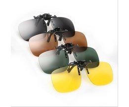 Clip On Zonnebrillen In Diverse Kleuren
