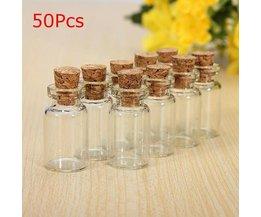 Lege Glazen Flesjes met Kurk 50 Stuks