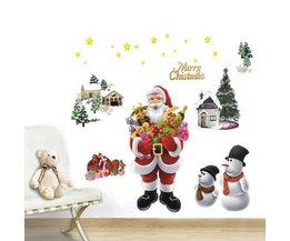 Set Raamdecoratie voor Kerst