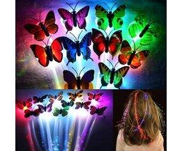 Glow in the Dark Hair Extensions met LED