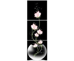 Drieluik met Bloemen