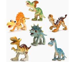 Plastic Dinosaurussen Speelset voor Kinderen 6 Stuks