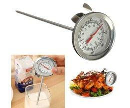 Vlees Temperatuurmeter Van Roestvrij Staal