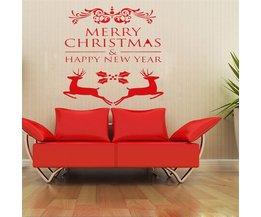 """Merry Christmas"" Muursticker van PVC"