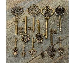 Zelf Hanger Maken Antieke Sleutels 12Stuks