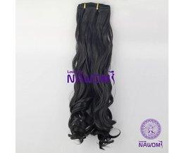 NAWOMI Zwart Golvende Haarextensie 7 Stuks