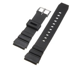 Horloge Band Rubber Zwart