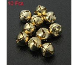 Metalen Belletjes In Meerdere Kleuren 10 Stuks