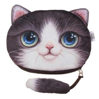 Schattige Portemonnee met 3D Kat