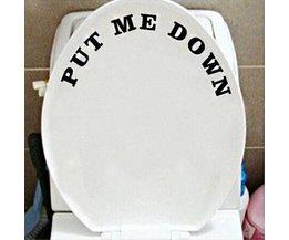 Sticker voor WC-Bril