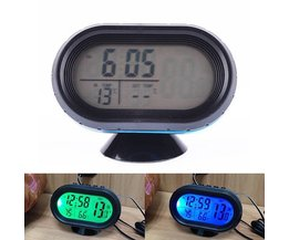 Digitale Klok voor Auto met Temperatuurweergave en Voltmeter