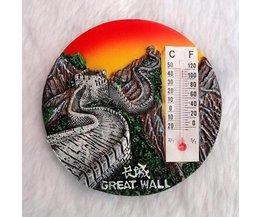 Magnetische Thermometer Chinese Muur
