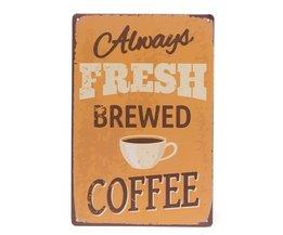 Retro Wandborden Coffee